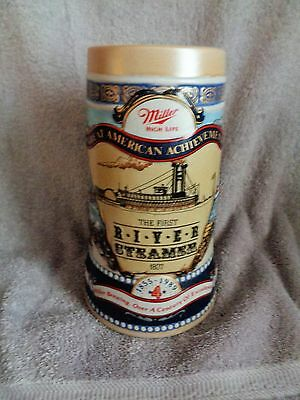 "Miller BEER STEIN- ""Great American Achievements""- Number 4: First River Steamer"