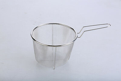 Deep Fry Basket Stainless Round 18 CM, Fryer / Deep Frying / Chips, RRP $17.50