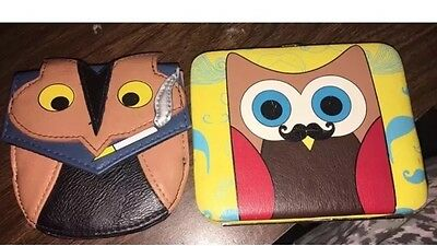 Owl Wallets Lot Of 2 Owl Smoking Cigarette Owl With Mustache Urban Outfitters