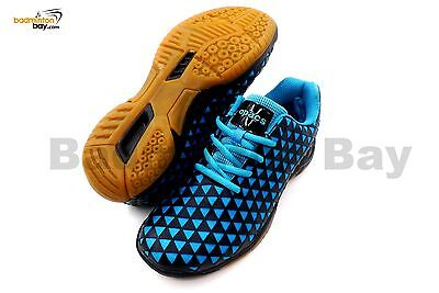 Apacs Cushion Power 078 Black Blue Badminton Shoes With Improved Cushioning
