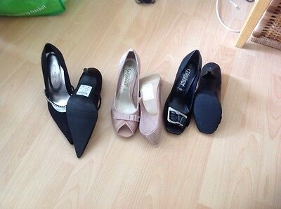 Job lot of ladies shoes size 4 three pairs all new