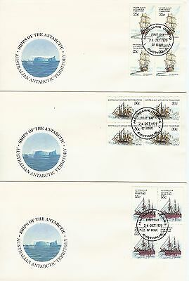 AAT - Complete Set of 4 bases x Blocks of 4 - Ships of the Antarctic (1)