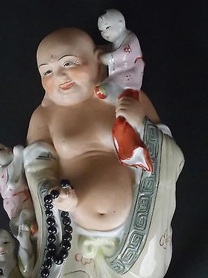 BUDDHA – ANTIQUE or VINTAGE PORCELAIN RARE STANDING, TALL 34.5 CM