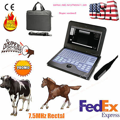 Veterinary VET portable Ultrasound Scanner Machine For cow/horse/Animal, rectal