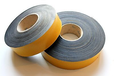 SOLID NEOPRENE RUBBER STRIP SELF ADHESIVE various Widths and Thicknesses