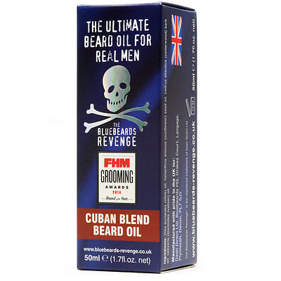 The Bluebeards Revenge Cuban Blend Beard Oil (50ml) - BBRBOCUBAN50