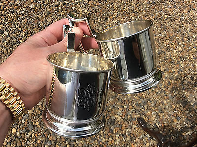 A Pair Of Imperial Russian Silver Tea Glass Holders - Assayer Yakov Lyapunov