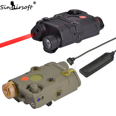 Tactical PEQ-15 Red Laser Device LED Flashlight IR Len ATPIAL for Airsoft AEG
