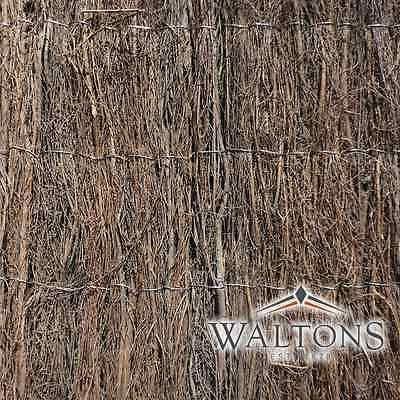 Waltons Brushwood Thatch Screening Screen Roll Garden Fencing 4m Long Panel NEW