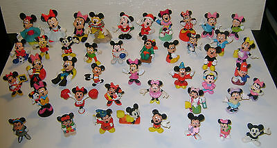 Huge Lot of 44 Mickey & Minnie Mouse Figures ¤ Vintage ¤ All Different!! ¤ Lôôk!