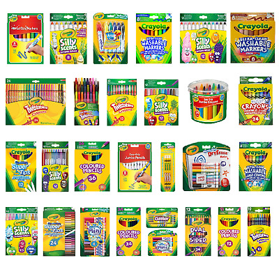Crayola Supertips,Crayons,Chalk,Pencils,Markers - FAST & FREE DELIVERY