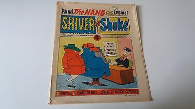 shiver and shake comic issue 37 17TH NOVEMBER 1973