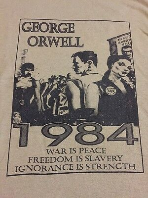 T Shirt 1984 George Orwell New Large Olive Green MWOT 30 X 22