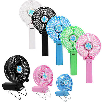 Mini Portable Hand-held Fan Cooler 18650/USB Rechargeable Air Conditioner New UK
