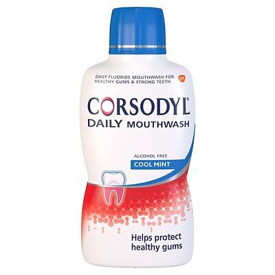 Corsodyl Daily Alcohol Free Mouthwash Cool Mint, 500 ml