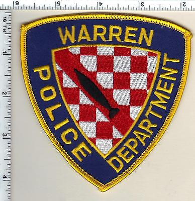 Warren Police (Rhode Island) Shoulder Patch from 1991