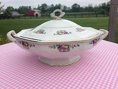 """J & G Meakin St Kilda Serving Bowl / Tureen with Lid 8 1/4"""""""