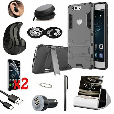 10 in 1 Accessory Case Cover Charger Bluetooth Headset Earphones For Huawei P9