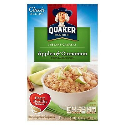Quaker Instant Oatmeal Apple & Cinnamon 430g (SEE DESCRIPTION)