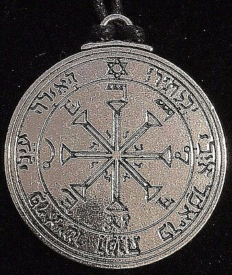 Pentacle of the Sun Solomon Seal Talisman Hermetic Kabbalah Goetic Amulet w/Bag!