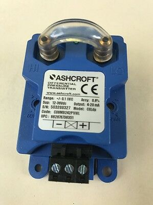 ASHCROFT Pressure Transducer,-0.1to 0 to 0.1 InWC, CX8MB242P1IWL