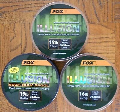 Fox Illusion Trans Khaki Fluorocarbon Mainline