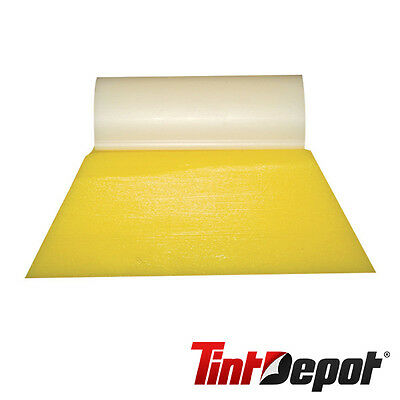 "Window Film Tools 3"" Yellow Turbo Squeegee window tinting tool with white tube"