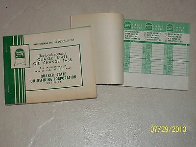 2 NOS Books QUAKER STATE OIL CHANGE 100 TABS Muscle Auto Rod Car Automobile MINT