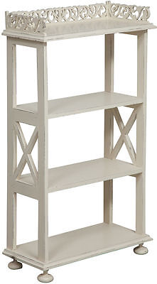 ETAGERE BOOKCASE WOODEN mahogany 4 shelves 93 cm x 52 cm WHITE
