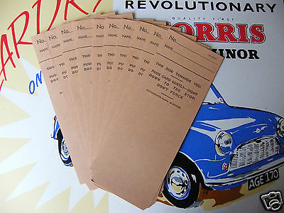 Blick Time Recorder Clocking In Cards X 10 Vintage Industrial
