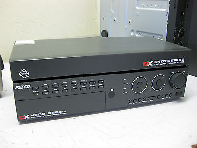 Pelco Digital Video Recorder DX4616 with DX8100-EXP 16 Channel Expansion Unit