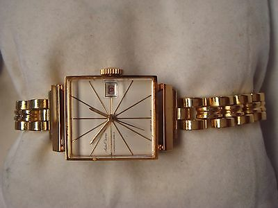 Vintage New Old Stock Seiko Chorus Calendar  Diashock 17 Jewels Stainless Steel