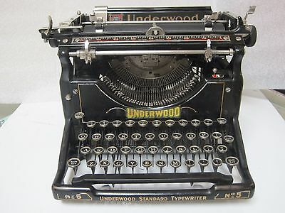 Vintage Underwood No5 Refurbished with Warranty and Manual