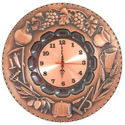 Wall clock copper polished decorated 4 seasons quartz movement