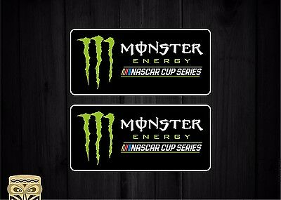 Pegatina Decal Sticker Autocollant Vinyl Bumper Monster Nascar Cup Series