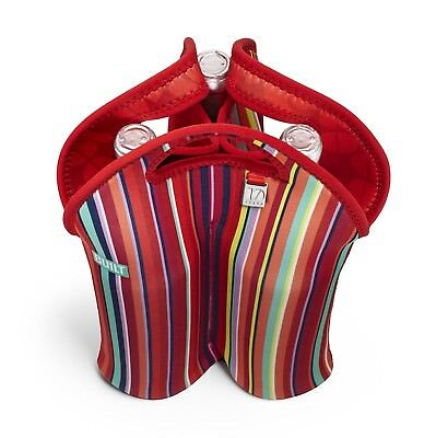 BUILT NY Three Bottle Tote Stripe No. 10. Free Delivery
