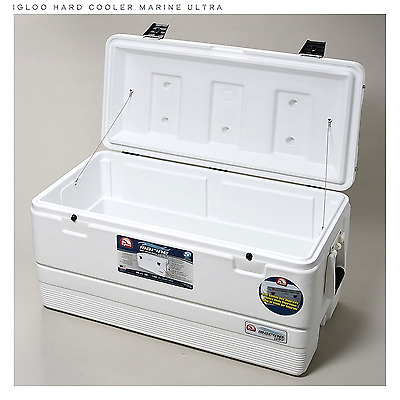 Insulated Ice Chest Ultra Cooler 94Qt White Picnic Garage Storage Food Keeper