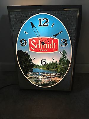 Schmidt Beer Lighted Clock