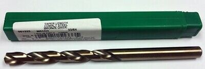 "33/64"" Cobalt Taper Length Drill, 4-3/4"" Lof, 8"" Oal, Ptd M51Co 51333"