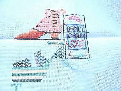 Janlynn Counted Cross Stitch Partially Completed Dancing Shoes