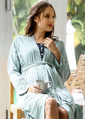 NEW - Floressa - Sorrel Pale Green Robe - Maternity Robe