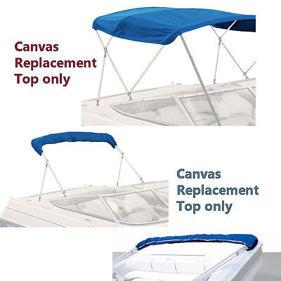 "Bimini Top Boat Cover Canvas Fabric Blue W/boot Fits 4 Bow 96""l 54""h 85""- 90""w"