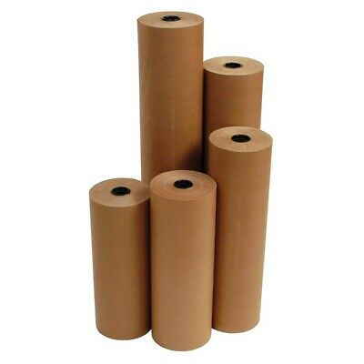"24"" 40 lbs 760' Brown Kraft Paper Roll Shipping Wrapping Cushioning Void Fill"