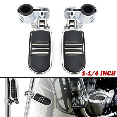 "1-1/4"" Highway Foot Pegs Rest For Harley Touring Motorcycle Streamliner Chrome"