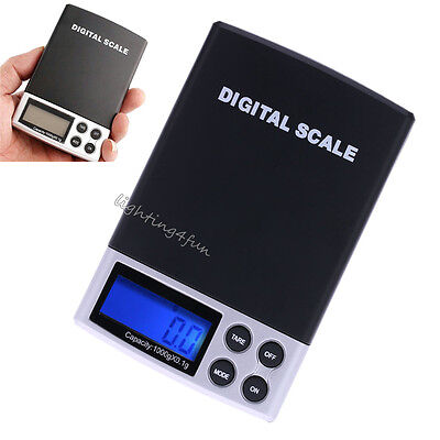 High Precision Pocket Digital Jewelry Scale Grams Weigh 0.1g with LCD Bluelight
