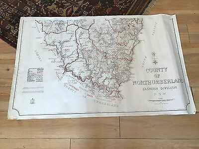 Vintage Map of NSW- County of Northumberland 1950
