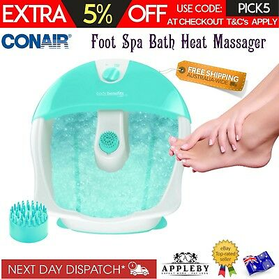 Conair Foot Spa Bath Massage Footspa Bubbles Pedicure Feet Relaxation New