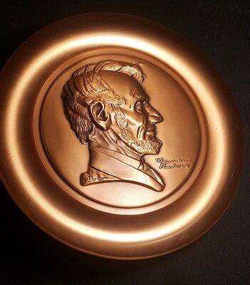 Norman Rockwell's Abraham Lincoln Certified Pure Copper 16Oz Plate #86 Low !!!!!
