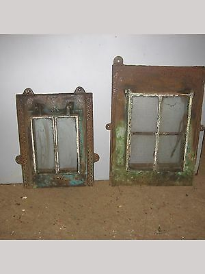 2 Very Old Original Cast Iron Opening Windows Very Rare Survivors