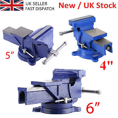 """4"""" 5"""" 6"""" Engineer Vice Vise Swivel Base 360° Workshop Clamp Jaw Work Bench Table"""